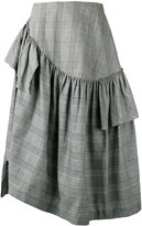 Simone Rocha checked skirt - women - Cotton/Linen/Flax/Spandex/Elastane/Acetate - 8
