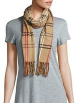 Cejon Check Fringed Scarf