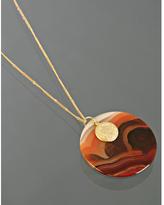 rust carnelian large pendant necklace