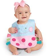 Mud Pie Blue & Pink Polka Dot Ladybug Pocket Bib