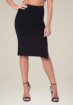 Bebe Ribbed Midi Skirt
