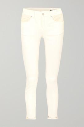 Alexander McQueen Paneled High-rise Skinny Jeans - Ecru