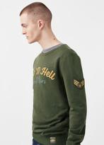MANGO MAN Printed Cotton Sweatshirt