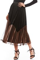 Gianni Bini Janet Metallic Pleated Skirt