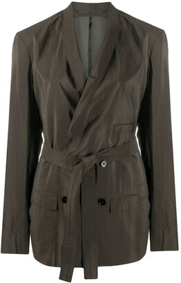 Lemaire Belted Double-Breasted Blazer