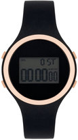 INC International Concepts Women's Digital Black Silicone Strap Watch 38mm IN017RGBK, Only at Macy's