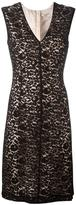 Lanvin V-neck fitted lace dress
