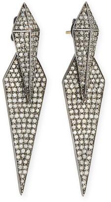 Siena Jewelry Double Diamond Dagger Earrings