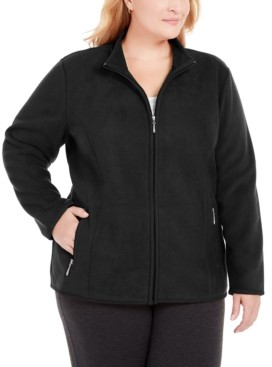 Karen Scott Plus Size Zip-Front Jacket, Created For Macy's