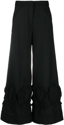 Shrimps Georgie ruffle-trim trousers