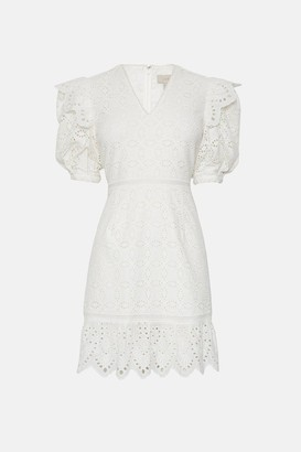 Coast Lace Puff Sleeve Dress
