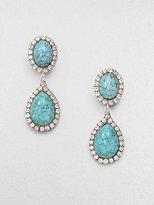 Dannijo Turquoise and Swarovski Crystal Drop Earrings
