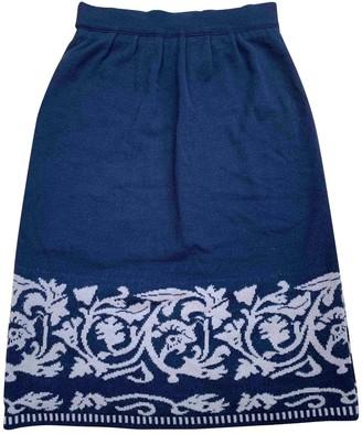 Rodier Black Wool Skirt for Women Vintage