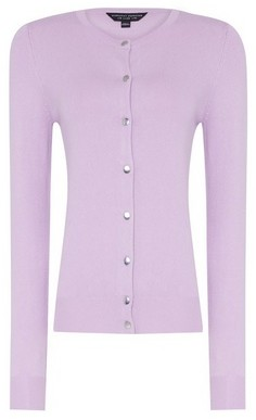 Dorothy Perkins Womens Lilac Button Cardigan