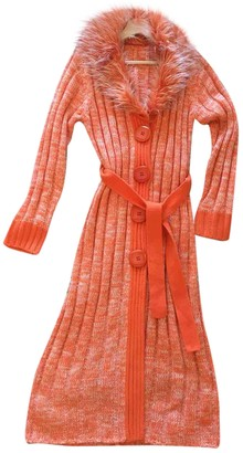 Non Signé / Unsigned Non Signe / Unsigned Hippie Chic Orange Cotton Knitwear for Women Vintage