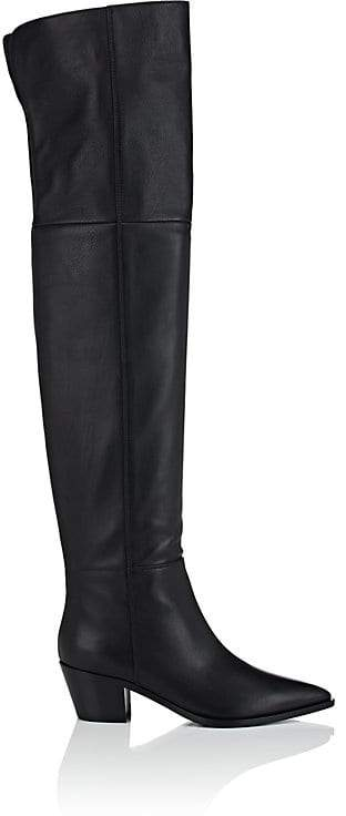 Gianvito Rossi Women's Daenerys Leather Over-The-Knee Boots
