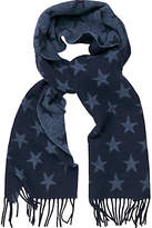 Gant Star Wool Scarf, Navy