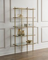 Global Views Laforge Antiqued Gold Etagere
