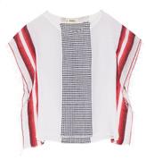 Lemlem Lula striped cotton-blend gauze poncho