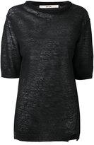 Damir Doma Kya T-shirt - women - Linen/Flax - XS