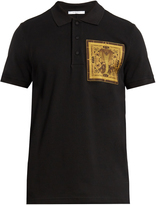 Givenchy Cobra-patch appliqué cotton polo shirt