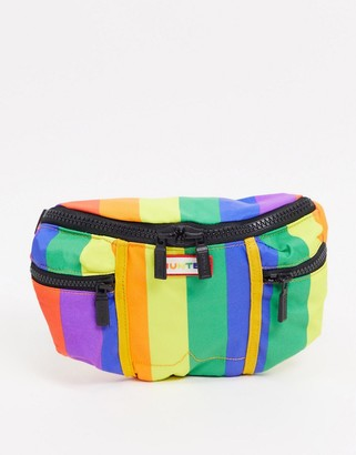 Hunter Pride bumbag in rainbow