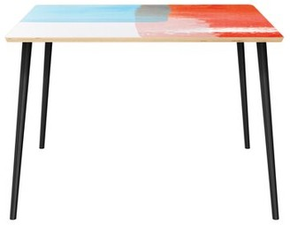 George Oliver Penaflor Dining Table Table Top Color: Natural, Table Base Color: Black