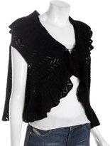 black silk-cashmere 'Sadie' crocheted cape