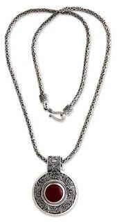 Novica Handmade Carnelian Luxury Necklace