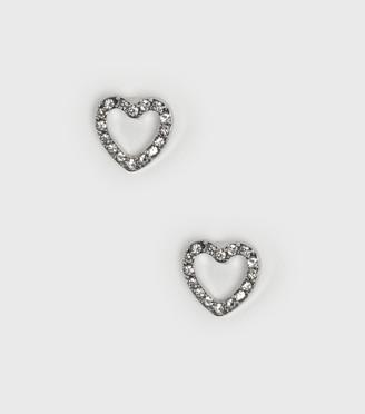 New Look Diamante Heart Stud Earrings