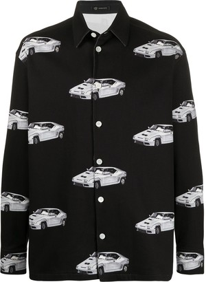 Versace Retro Car Print Shirt Jacket