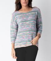 Yuka Paris Pink Melange Crewneck Sweater