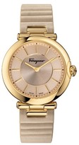 Salvatore Ferragamo Women's Round Leather Strap Watch, 36Mm