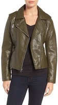 Rachel Roy Women's Faux Leather Moto Jacket