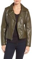 Rachel Roy Women's Faux Leather Moto Jacket