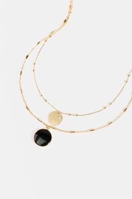 francesca's Makena Stone Pendant Layered Necklace - White