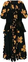Simone Rocha ruffled floral print dress