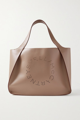 Stella McCartney Perforated Faux Leather Tote - Taupe