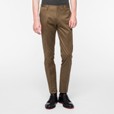 Paul Smith Men's Slim-Fit Khaki Stretch-Cotton Twill Trousers