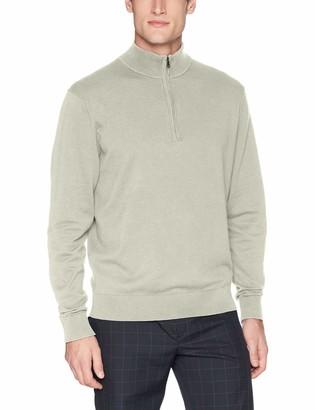 Cutter & Buck Men's Cotton-Rich Classic Lakemont Anti-Pilling Half-Zip Sweater