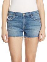 Mother Teaser Step Hem Frayed Shorts