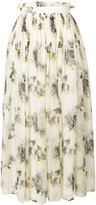 MSGM floral flared skirt - women - Silk/Polyester - 40