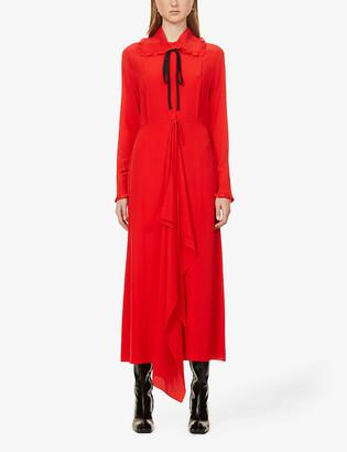 Victoria Beckham Peter Pan-collar silk maxi dress
