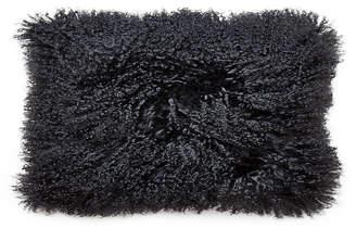 Jonathan Adler Mongolian Lamb Hair Lumbar Throw Pillow