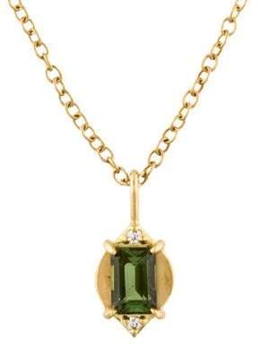 Jamie Wolf 18K Tourmaline & Diamond Marquis Pendant Necklace
