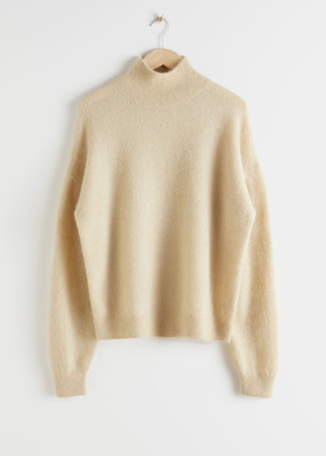 And other stories Alpaca Blend Mock Neck Sweater