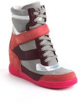 Marc by Marc Jacobs Leather High-Top Wedge Sneakers