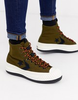 Converse Bosey MC Water Repellent trainer boots in khaki-Green