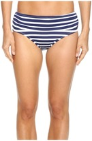 Tommy Bahama Breton Stripe High-Waist Bikini Bottom