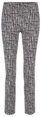 BOSS Regular-fit trousers in checked Italian stretch fabric